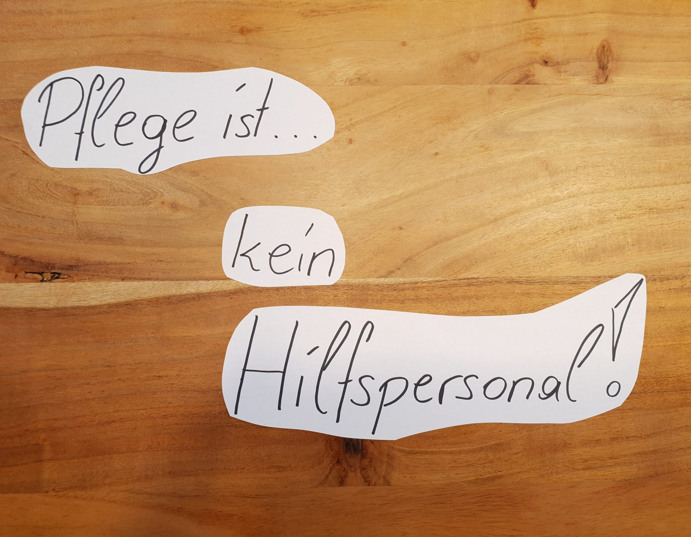 Read more about the article Die Pflege ist kein Hilfspersonal!
